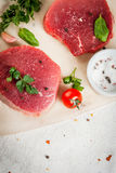Raw beef, steak, cutlet. Royalty Free Stock Images