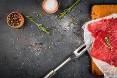 Raw beef steak Stock Image