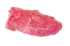 Raw beef steak. Fresh raw beef steak on a white plate Stock Photography