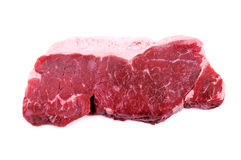Raw beef steak isolated Royalty Free Stock Photo