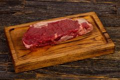 Raw beef steak Picanha. Black Angus Stock Images