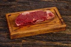 Raw beef steak Picanha. Black Angus Stock Photos