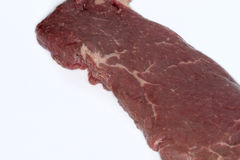 Raw beef steak. A piece of fresh raw beef steak Royalty Free Stock Images