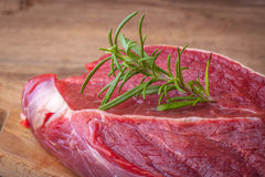 Raw beef steak. Raw beef steak ready to grill. Selective focus Stock Photo