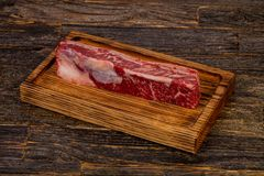 Raw beef steak Short Ribs. Black Angus Stock Photography