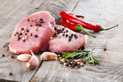 Raw beef steak Stock Photography