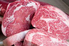 Raw beef steaks. Macro shoot Royalty Free Stock Photography