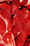 Raw beef steaks background stock photo
