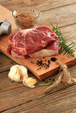 Raw beef steaks Stock Images