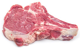 Raw beef steaks. Raw beef steaks on a white background Royalty Free Stock Image