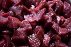 Raw Beef Stew Meat Stock Images