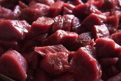 Raw Beef Stew Meat Stock Photography