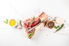 Raw beef striplon steak royalty free stock image