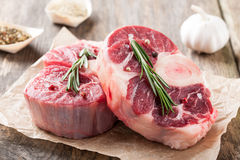 Raw beef t-bone steak Stock Photos