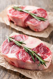 Raw beef t-bone steak Stock Images