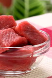 Raw beef tenderloin chunks Royalty Free Stock Image