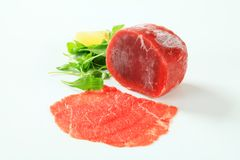 Raw beef tenderloin Royalty Free Stock Photo