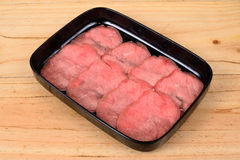 Raw beef top round. Royalty Free Stock Photo