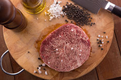 Raw Beef Wagyu Steak Royalty Free Stock Photo