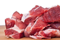 Raw beef. On white background Royalty Free Stock Images