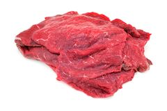 Raw Beef On White royalty free stock photo