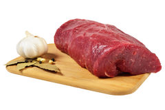 Raw Beef on wooden board Royalty Free Stock Photography