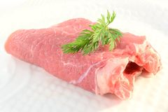 Raw beefsteak Royalty Free Stock Photo