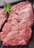 Raw beefsteak Stock Photography