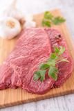 Raw beefsteak Stock Photo