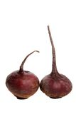 Raw beet-root isolated on whit Royalty Free Stock Photo