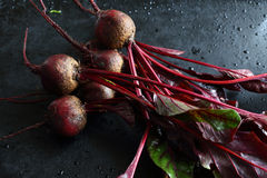 Raw Beetroot on a baking sheet. Vegetarian food Royalty Free Stock Images