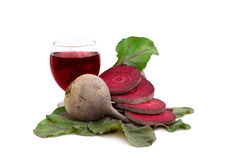 Raw beetroot and beetroot juice Stock Image