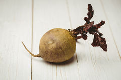 Raw beetroot. On wooden background Royalty Free Stock Photos