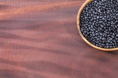 Raw black beans. Top view - Phaseolus vulgaris` Black turtle. Raw black beans - Phaseolus vulgaris` Black turtle Stock Images