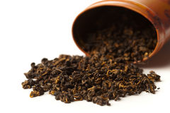 Raw black tea Stock Images