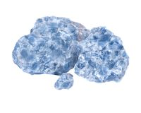 Raw blue calcite clusters Royalty Free Stock Photo