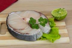 Raw blue shark steak Royalty Free Stock Image