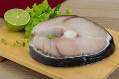 Raw blue shark steak Royalty Free Stock Photography