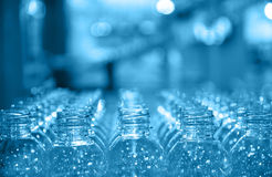Raw of bottle. Plastic recycle Royalty Free Stock Image