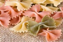 Raw Bow Pasta Stock Image