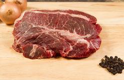 Raw braising steak Stock Photography