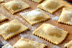 Raw Braised Beef Agnolotti Royalty Free Stock Photo