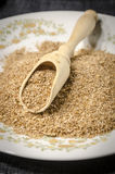 Raw bran on a plate Stock Images