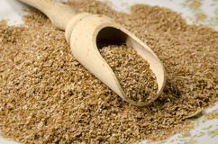 Raw bran on a plate Royalty Free Stock Photo