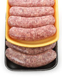 Raw Bratwurst. Raw Polish And Cheese Sausages Royalty Free Stock Photo