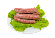 Raw bratwurst Stock Photo
