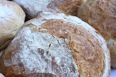 Raw bread in bakery Royalty Free Stock Photo