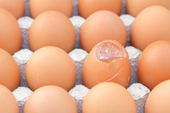 Raw break egg Stock Photos
