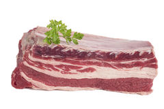 Raw briskets isolated on white Royalty Free Stock Images