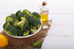 Raw broccoli Royalty Free Stock Photos